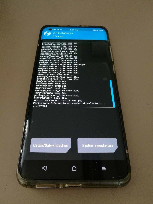 Xiaomi Mi 10 EU ROM Update - Update abgeschlossen