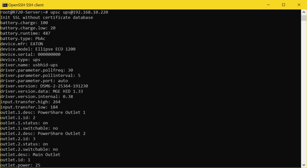 Proxmox NUT Client einrichten - USV verwenden - UPSMON Status