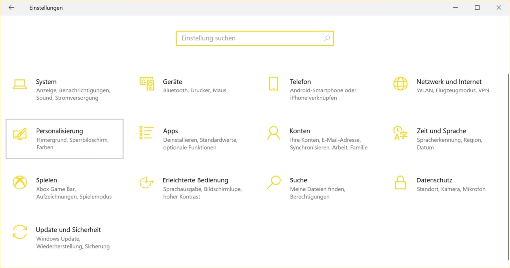 Windows 10 Dark Mode aktivieren - Einstellungen Personalisierung