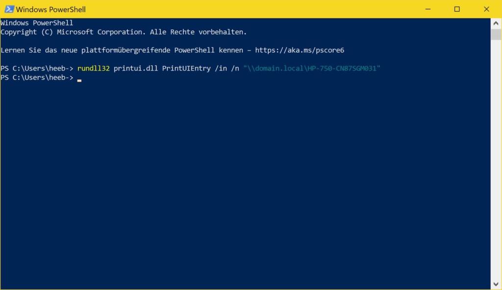 Windows 10 Netzwerkdrucker mit PowerShell hinzufügen - PowerShell