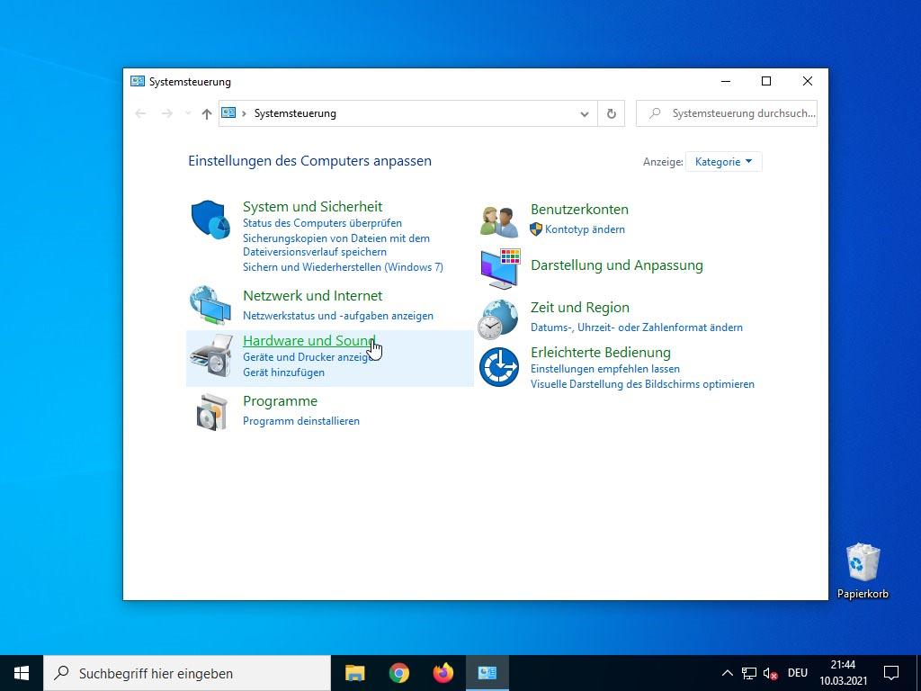 Windows 10 Schnellstart deaktivieren - Hardware und Sound
