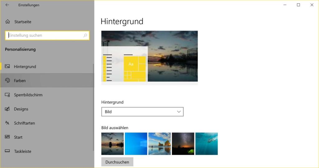 Windows 10 Dark Mode aktivieren - Einstellungen Farben