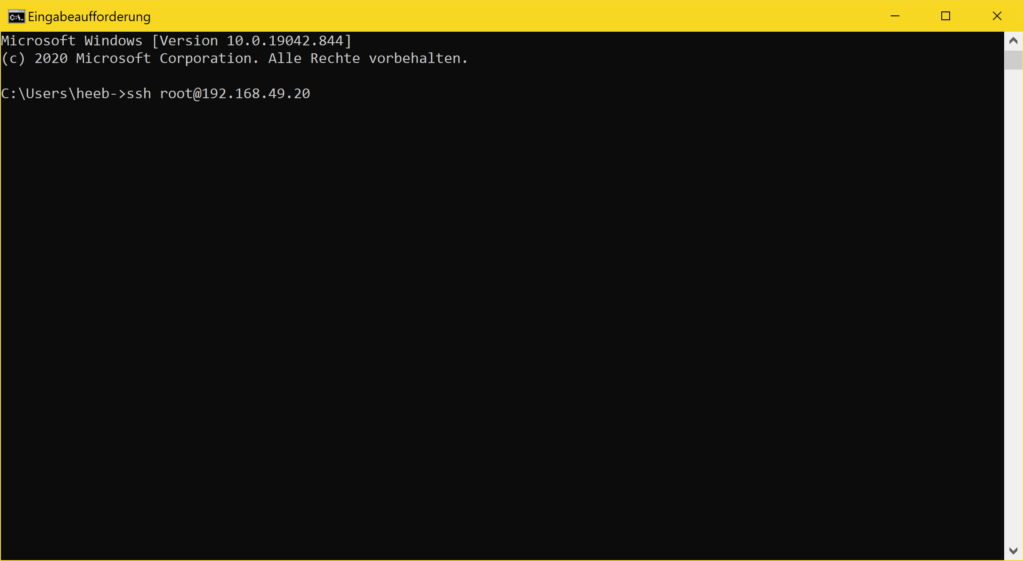 Windows 10 SSH Client - ssh login