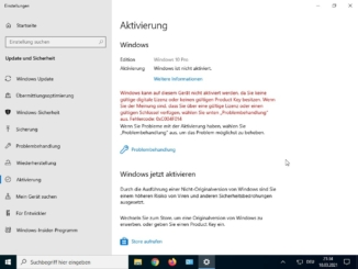 Windows 10 Key deaktivieren - key deaktiviert