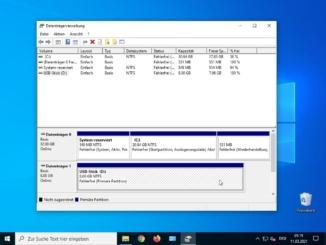 USB Stick unter Windows 10 - formatieren fertig