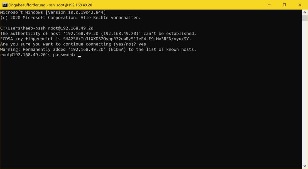Windows 10 SSH Client - ssh password