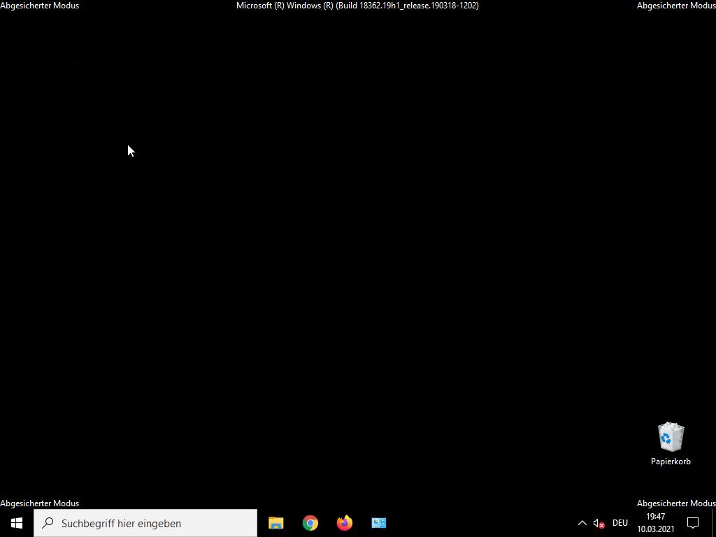 Windows 10 abgesicherter Modus starten - abgesicherter Modus