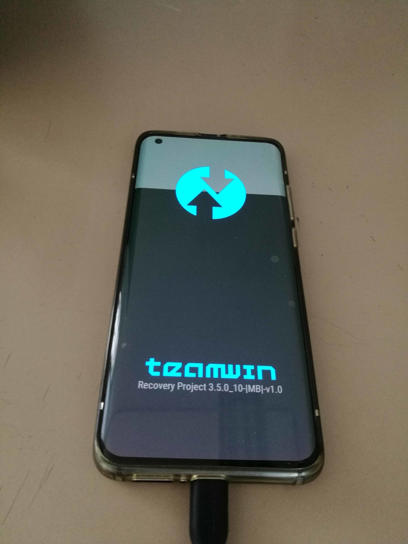 Xiaomi Mi 10 EU ROM Update - TWRP Screen