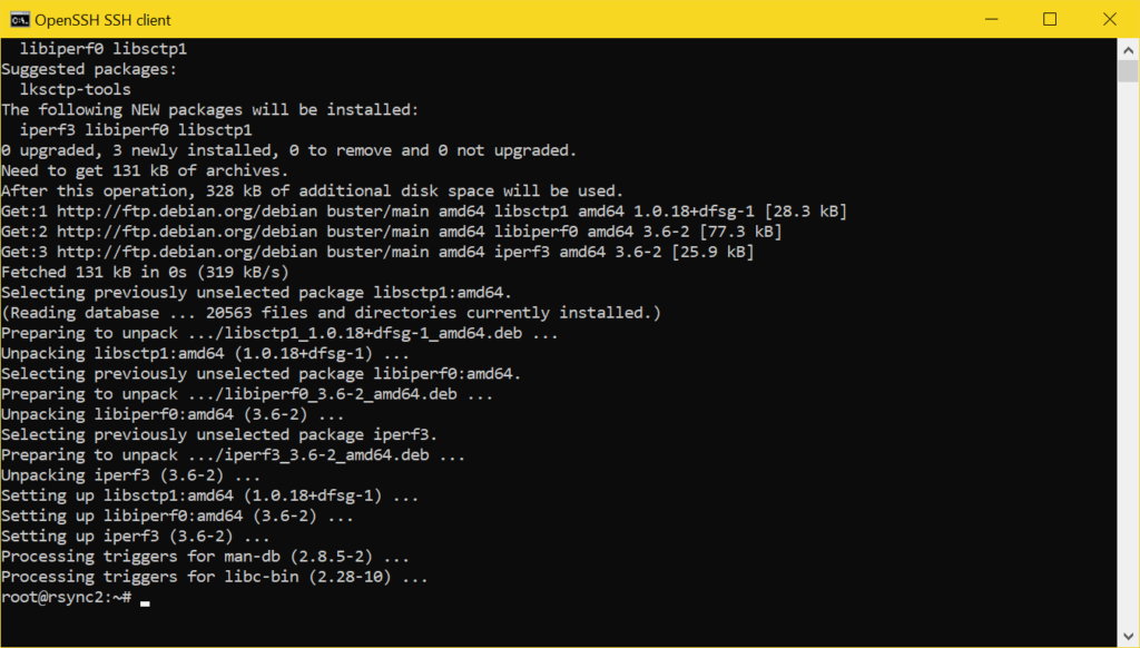 Netzwerk Speedtest mit iperf3 - install iperf3