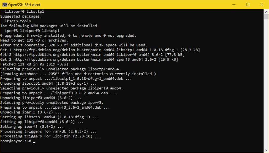 Test de vitesse du réseau avec iperf3 - installez iperf3