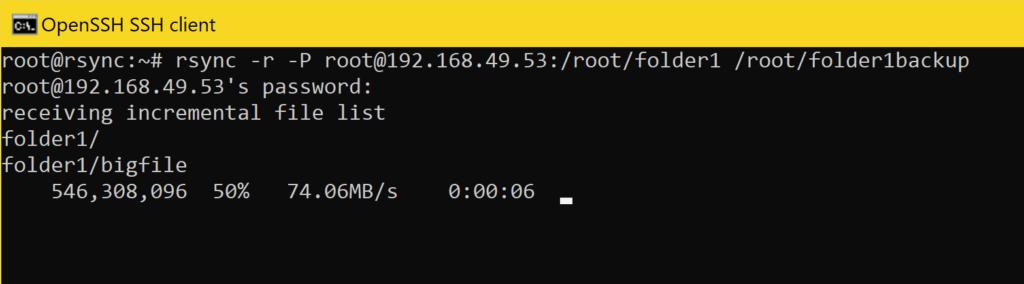 Dateien mit rsync Synchronisieren - dateien herunterladen