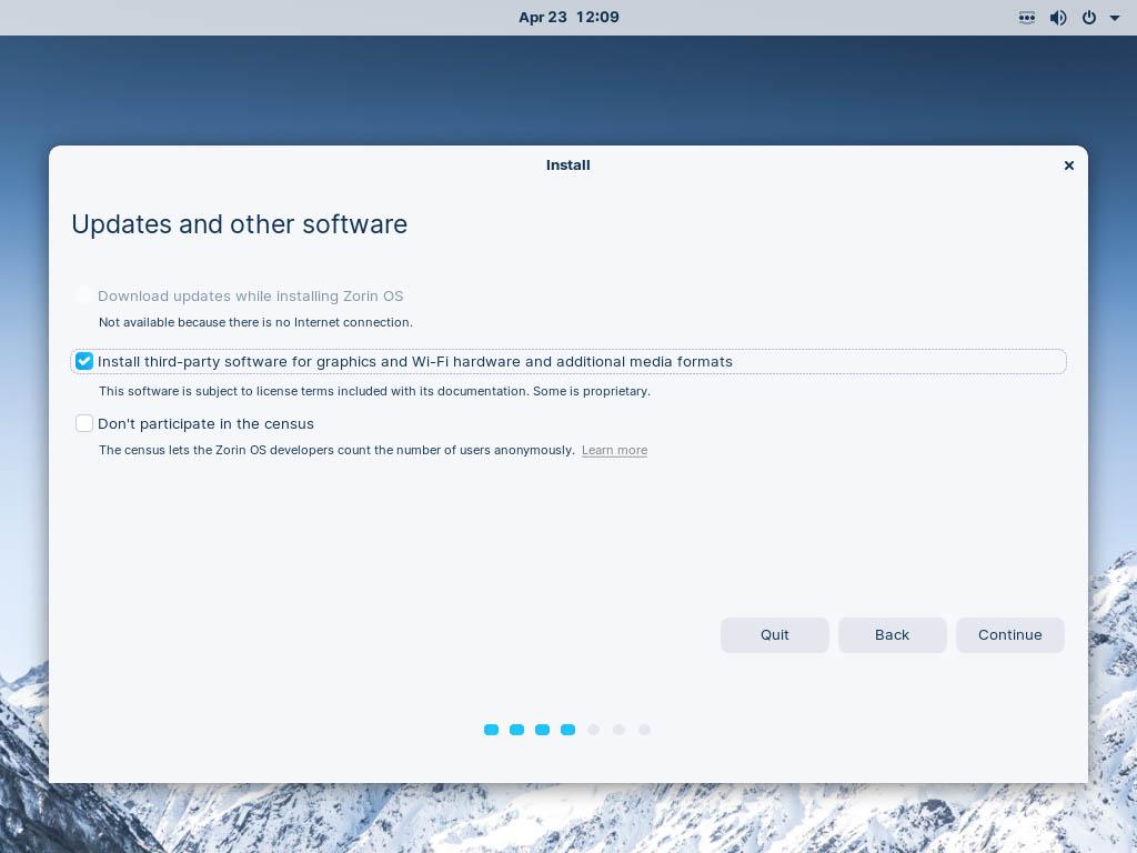 Zorin OS 16 installieren - updates