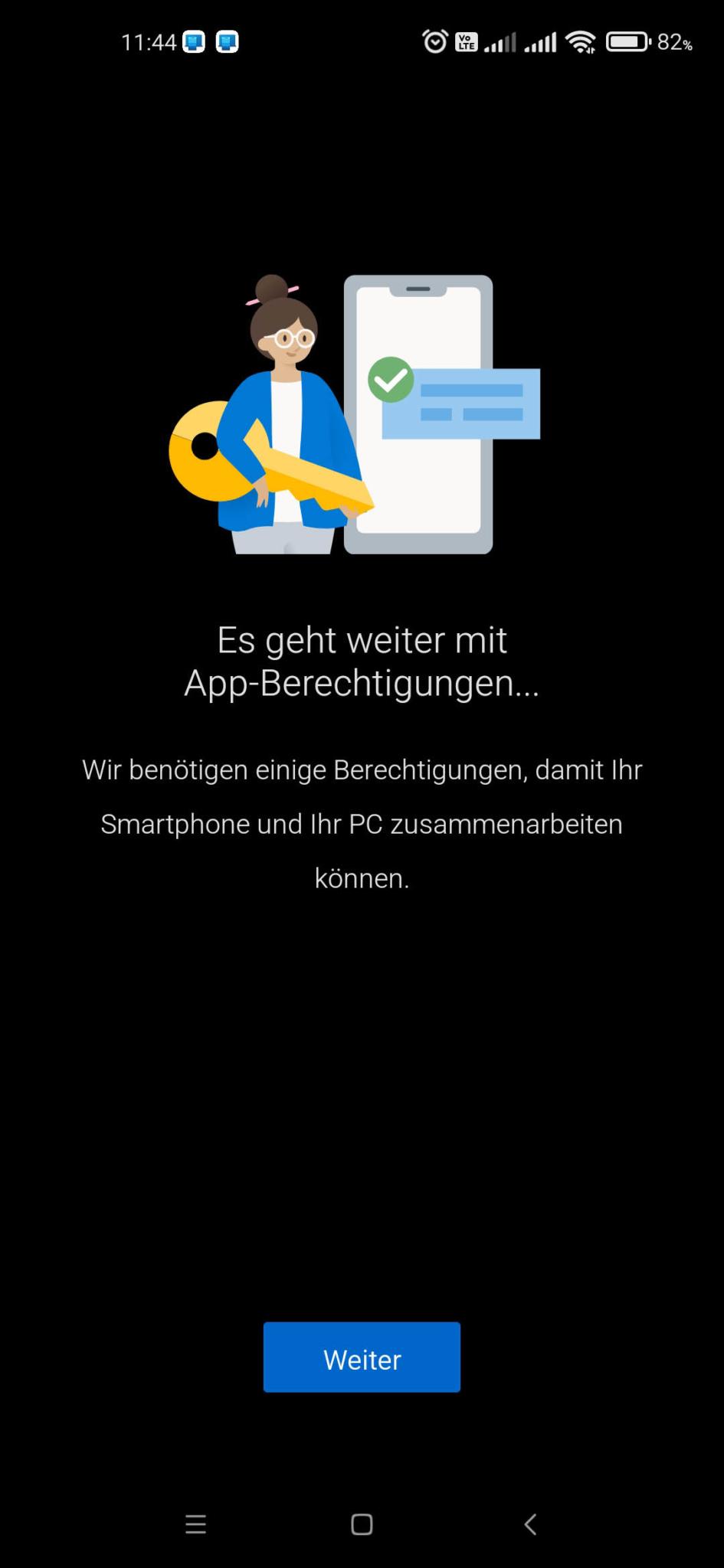 Windows 10 mit Android Smartphone verbinden - App-Berechtigungen