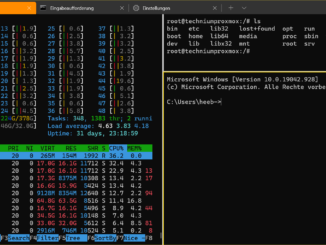 Windows 10 Terminal - split 3