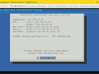 Proxmox Quake 3 Arena Server LXC Container (TurnKey) - installed