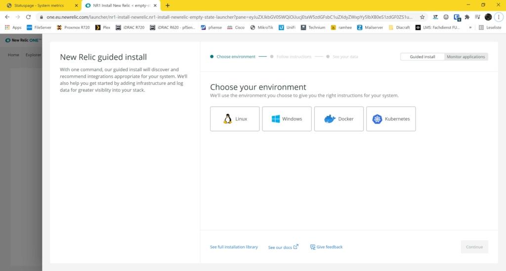 Webseite Uptime Monitoring mit statuspage.io und New Relic - exit