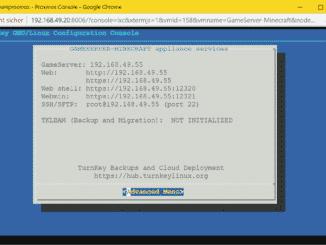 Proxmox Minecraft Server LXC Container (TurnKey) - succees