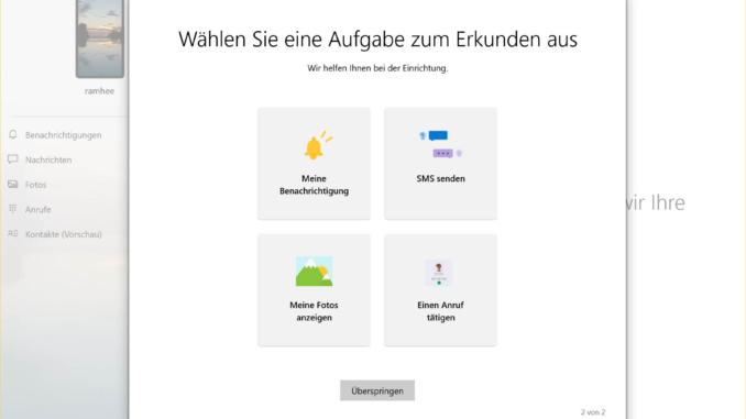 Windows 10 mit Android Smartphone verbinden - erkunden