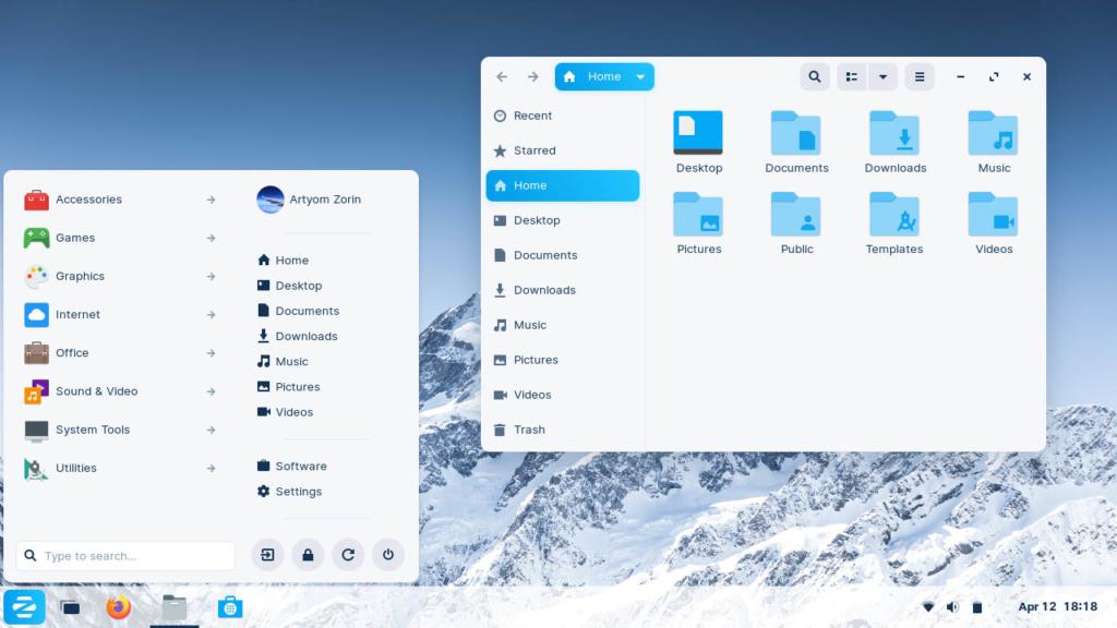 Zorin OS 16 Beta - default-desktop