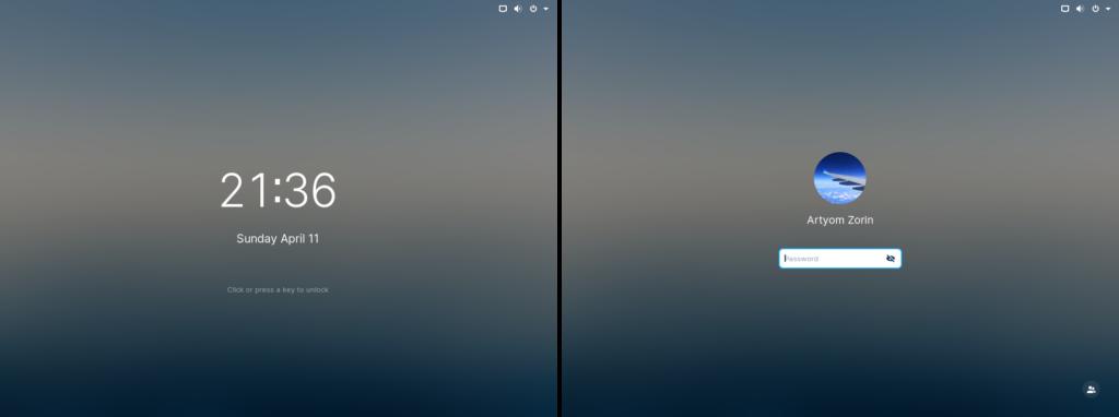 Zorin OS 16 Beta - lock-screen