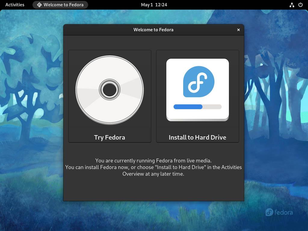 Fedora 34 installieren - installieren