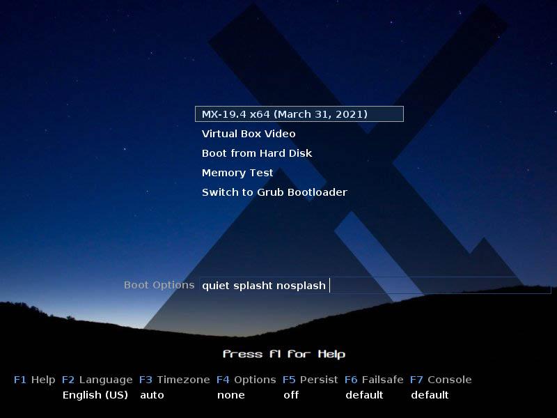 MX Linux 19.4 installieren - boot