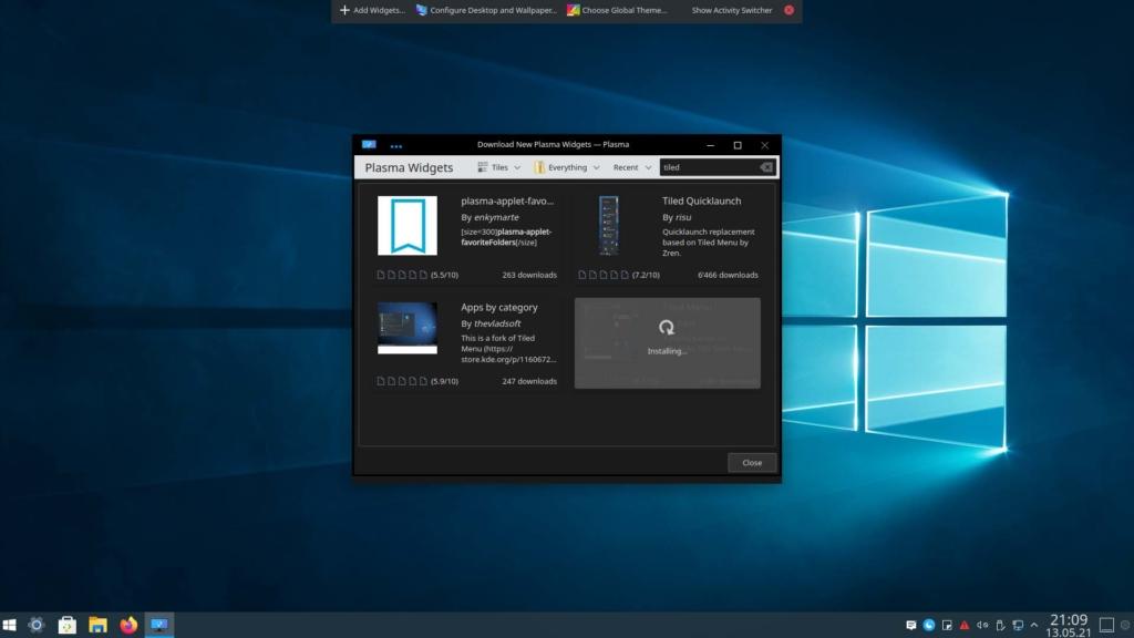 Kubuntu Windows 10 Theme installieren - Tiled Menu