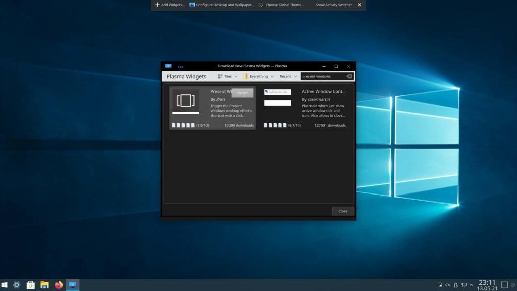 Kubuntu Windows 10 Theme installieren - Present Windows