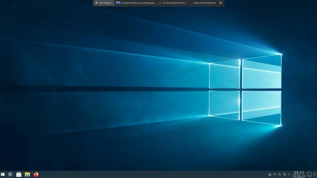 Kubuntu Windows 10 Theme installieren - Add Widgets