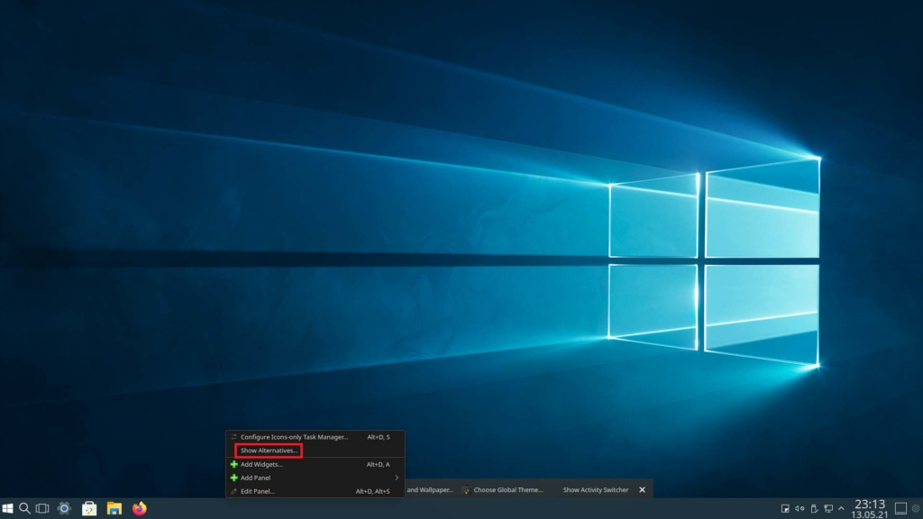 Kubuntu Windows 10 Theme installieren - Show Alternative