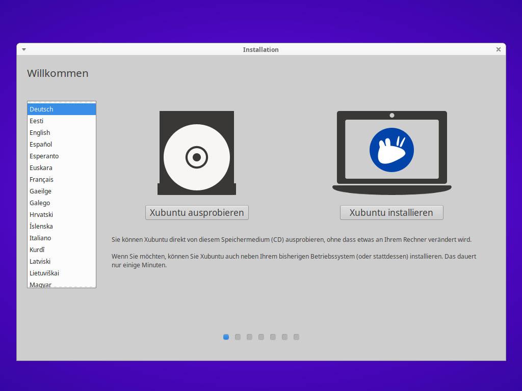 Xubuntu 21.04 installieren - Xubuntu installieren