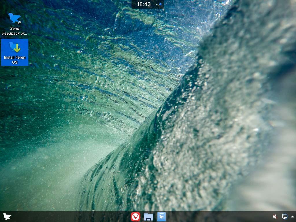 feren OS installieren - start installer