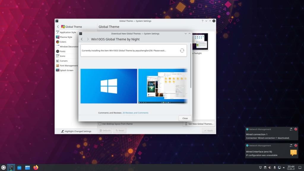 Kubuntu Windows 10 Theme installieren - installieren