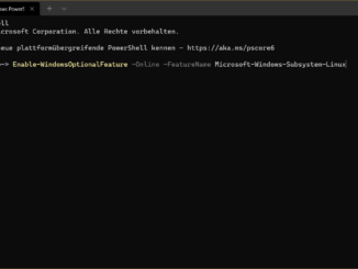 WSL2 installieren - Enable WSL