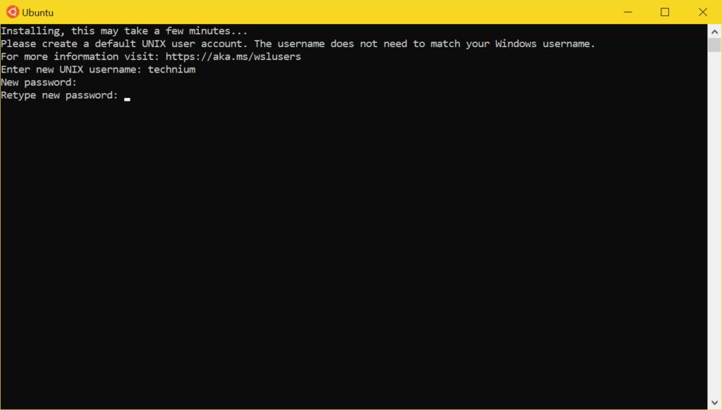 WSL2 Ubuntu installieren - set password