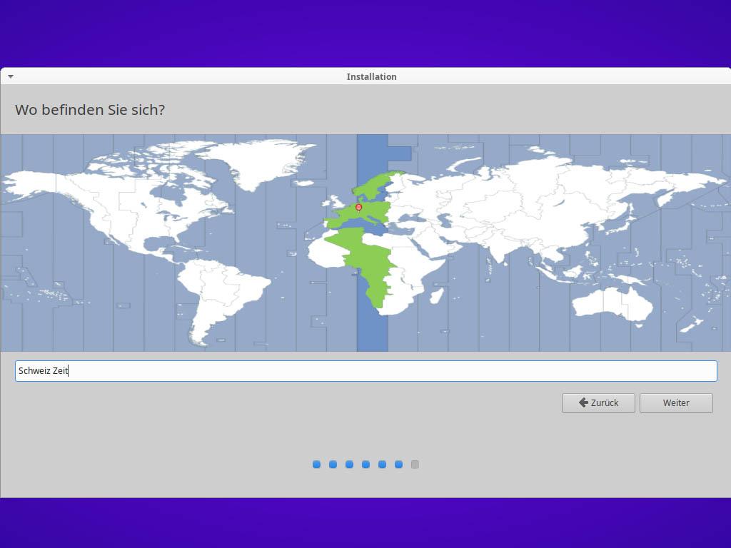 Xubuntu 21.04 installieren - Zeitzone