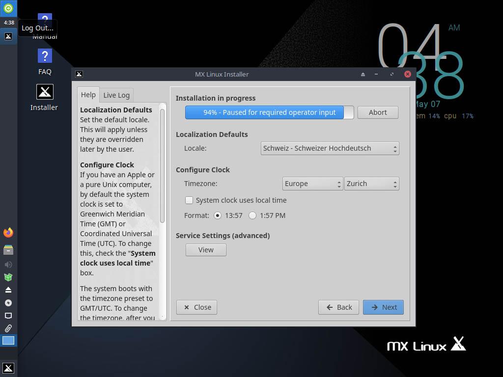 MX Linux 19.4 installieren - keyboard