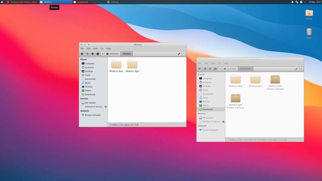 Xubuntu macOS Theme installieren - copy WhiteSur